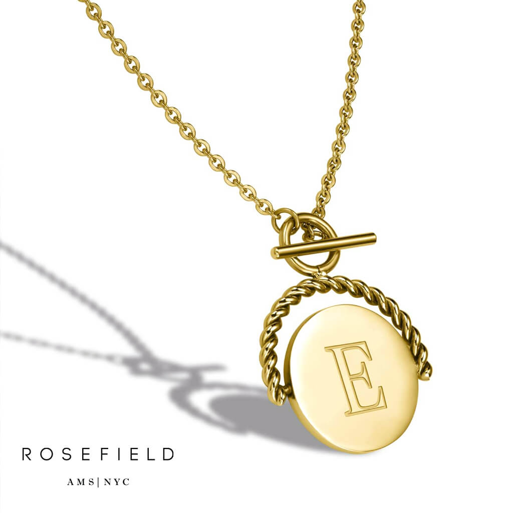 Ogrlica Rosefield Twisting Coin - Nakit by Watch Centar